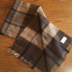 Royal Scott Cashmore brown plaid scarf